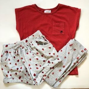 Three piece strawberry outfit
